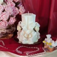 Свадебная резная свеча RMS-02 — Белая