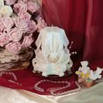 Свадебная резная свеча RMS-03 — Белый