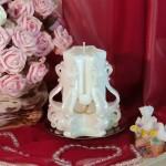 Свадебная резная свеча RMS-04 — Белый