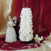 Свадебная свеча RVS-03 — Белый
